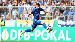 Florent Muslija in Aktion für den Karlsruher SC