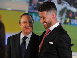 Ramos y Florentino Pérez en una imagen de archivo. (Foto: Getty)