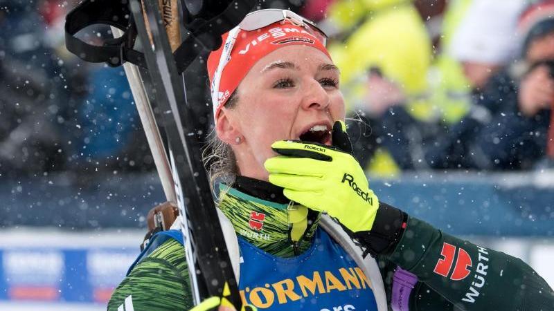 Der Spaß stand für Biathletin Denise Herrmann bei ihrer Langlauf-Rückkehr an erster Stelle