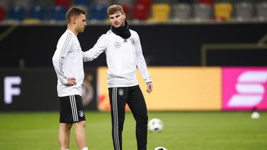 Joshua Kimmich und Timo Werner spielen gemeinsam in der Nationalmannschaft