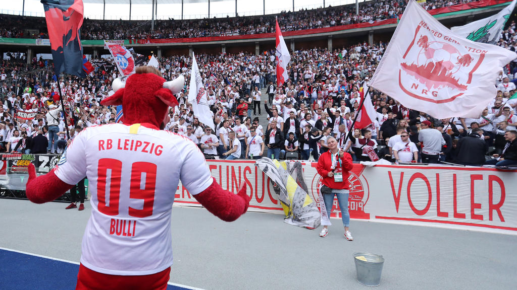 Fans von RB Leipzig waren zahlreich in Berlin beim Finale dabei