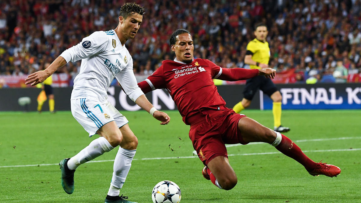 Im Champions-League-Finale 2017 siegte Ronaldo mit Real gegen van Dijks Liverpool