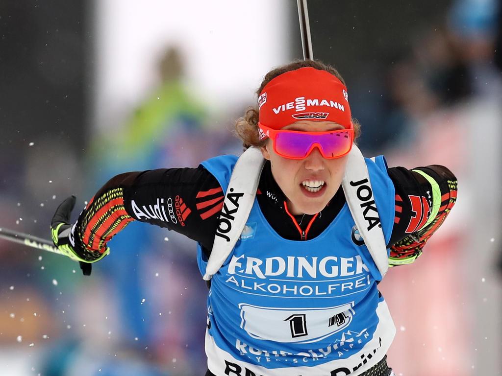 Laura Dahlmeier leistete sich drei Schießfehler in Norwegen