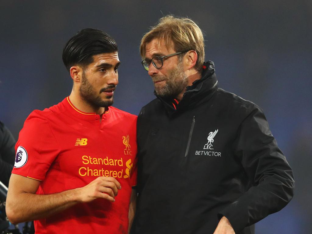 Der Vertrag von Emre Can (l.) in Liverpool läuft zum Saisonende aus