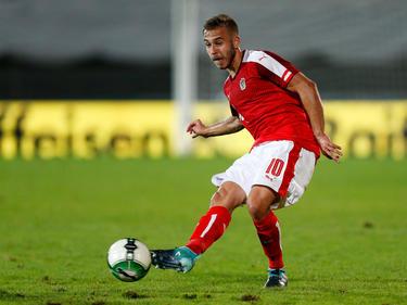 Sandi Lovrič trug sich beim 4:0-Auswärtssieg in Albanien doppelt in die Schützenliste ein