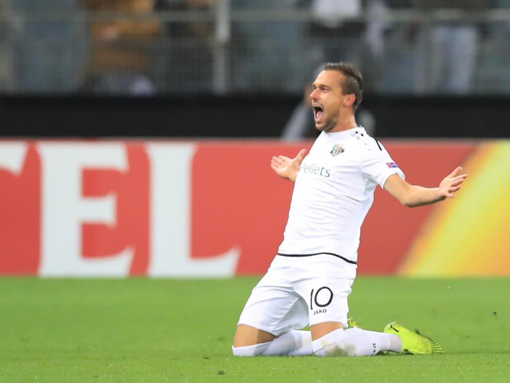 WAC-Spielmacher Liendl hatte gegen Roma viel zu jubeln