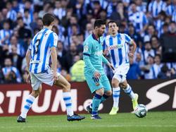 Messi no estuvo afortunado esta tarde.