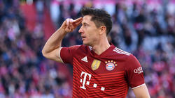Robert Lewandowski vom FC Bayern hofft auf den Ballon d'Or 2021