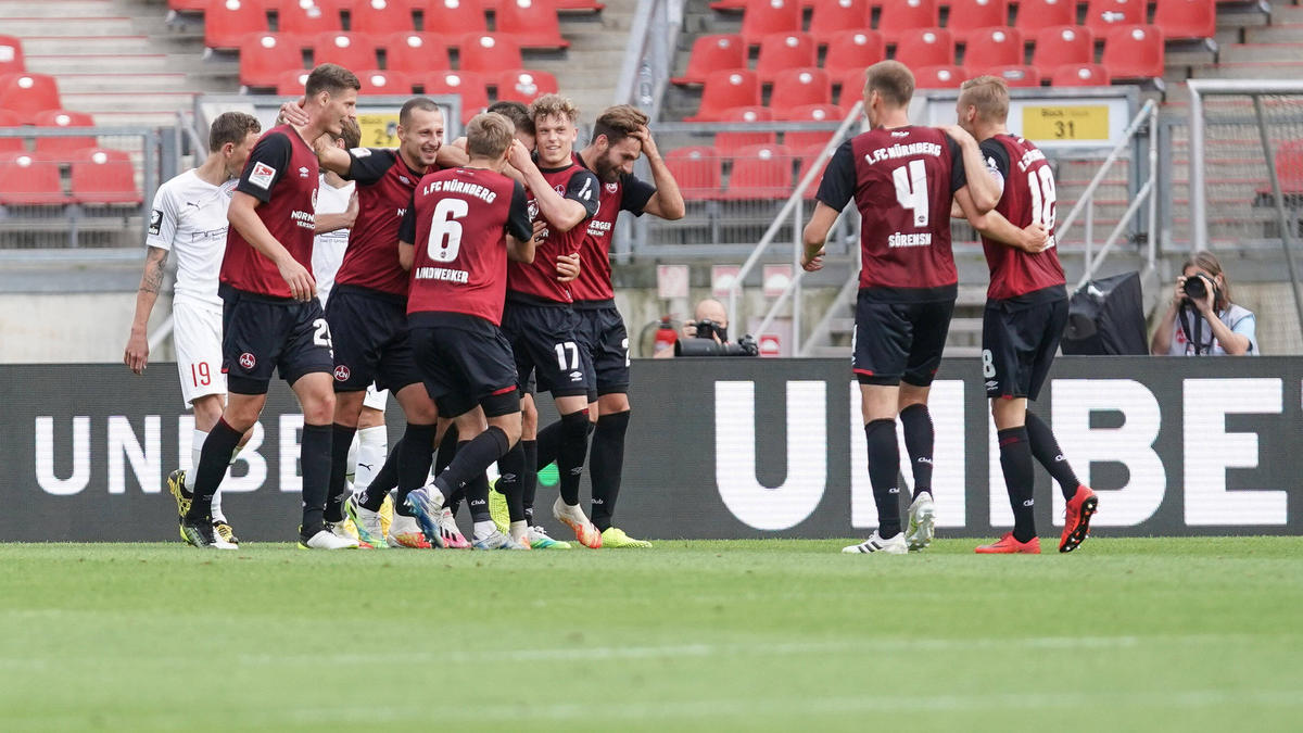 Der 1. FC Nürnberg darf auf den Ligaverbleib hoffen