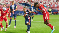 Augen zu und durch: Bayern-Star Coman trifft im CL-Finale per Kopf