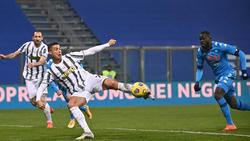 Ronaldo erzielte den Führungstreffer für Juventus