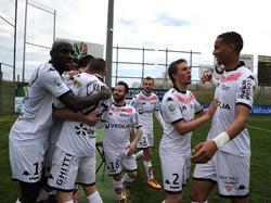 El Dijon celebra un tanto frente al Clermont Foot en la Segunda francesa. (Foto: Imago)