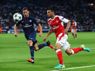 Partido entre PSG y Arsenal en el grupo A de Liga de Campeones. (Foto: Getty)