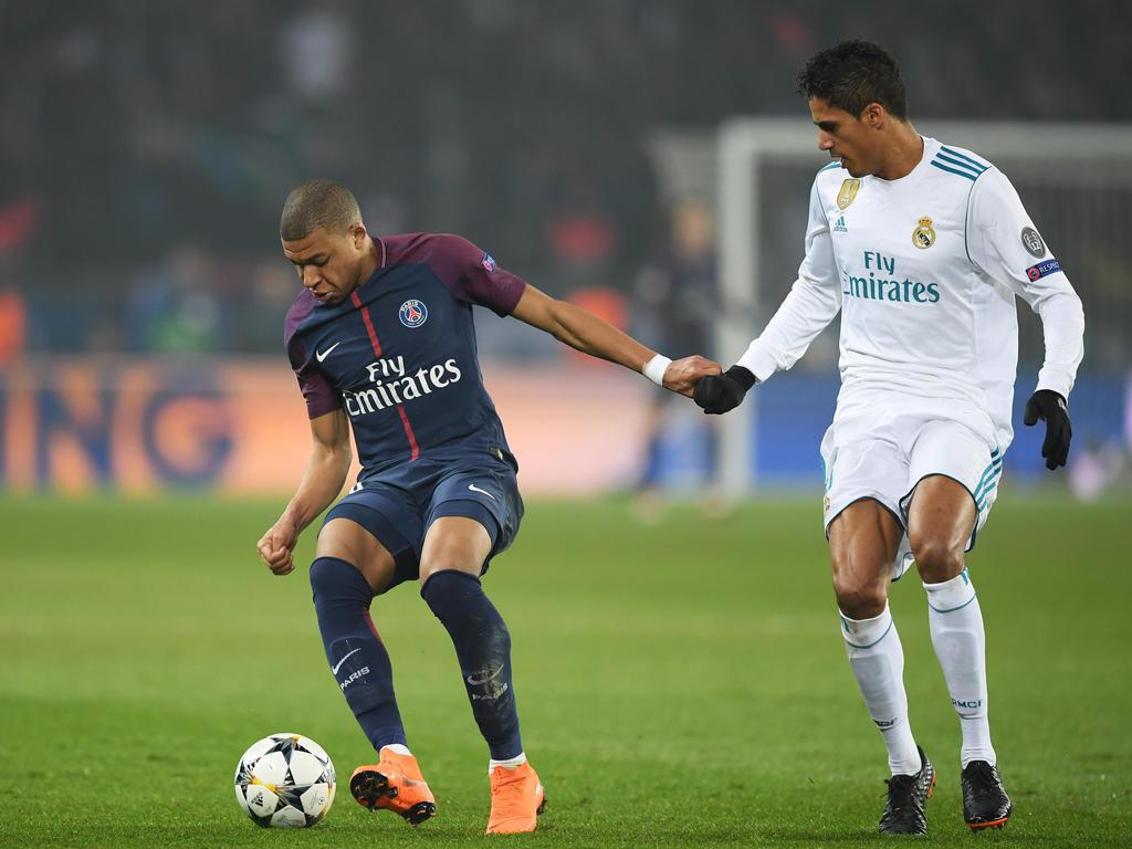 Kylian Mbappé (l.) verlor die beiden Duelle mit PSG gegen Real Madrid