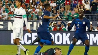 Tyler Adams (4) erzielte den Treffer gegen Mexiko