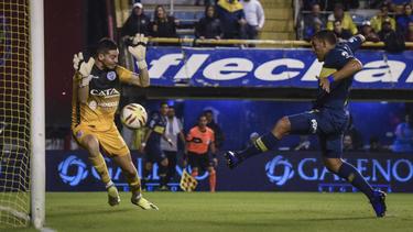 Ramón Ábila marcó el marcador en la Bombonera. (Foto: Getty)