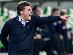 Dieter Hecking durante el partido contra el Leipzig. (Foto: Getty)