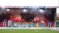 HSV-Ultras zündeln beim Auswärtsspiel gegen Holstein Kiel