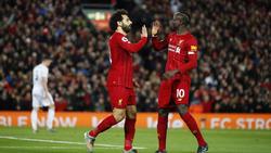 Mo Salah und Sadio Mané (r.) trafen für den FC Liverpool