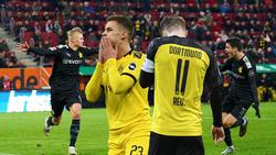 Erling Haaland (r.) und Gio Reyna (r.) setzen die BVB-Platzhirsche unter Druck