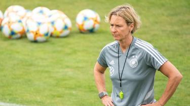 Martina Voss-Tecklenburg hat für die verbleibenden Spiele eine klare Devise ausgegeben