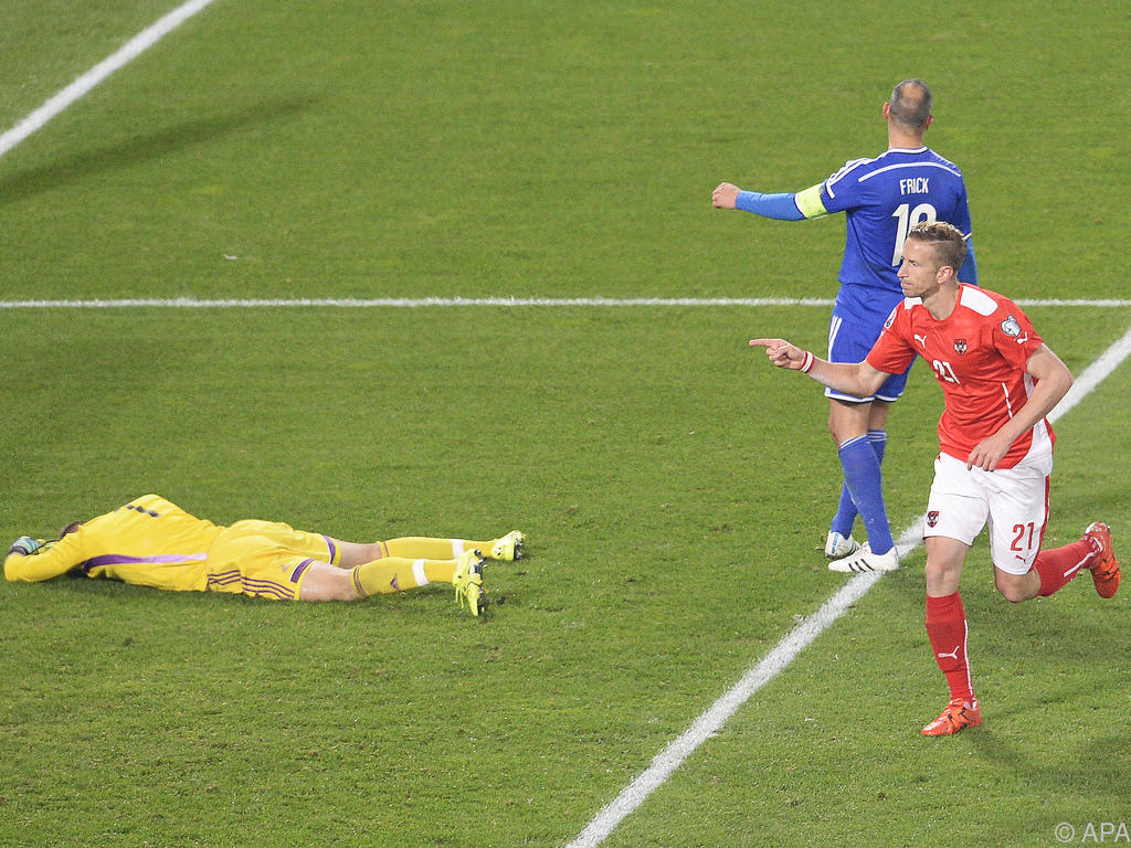 Marc Janko schlug gegen Liechtenstein zwei Mal zu
