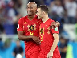 Belgiens Routiniers Kompany (l.) und Vermaelen