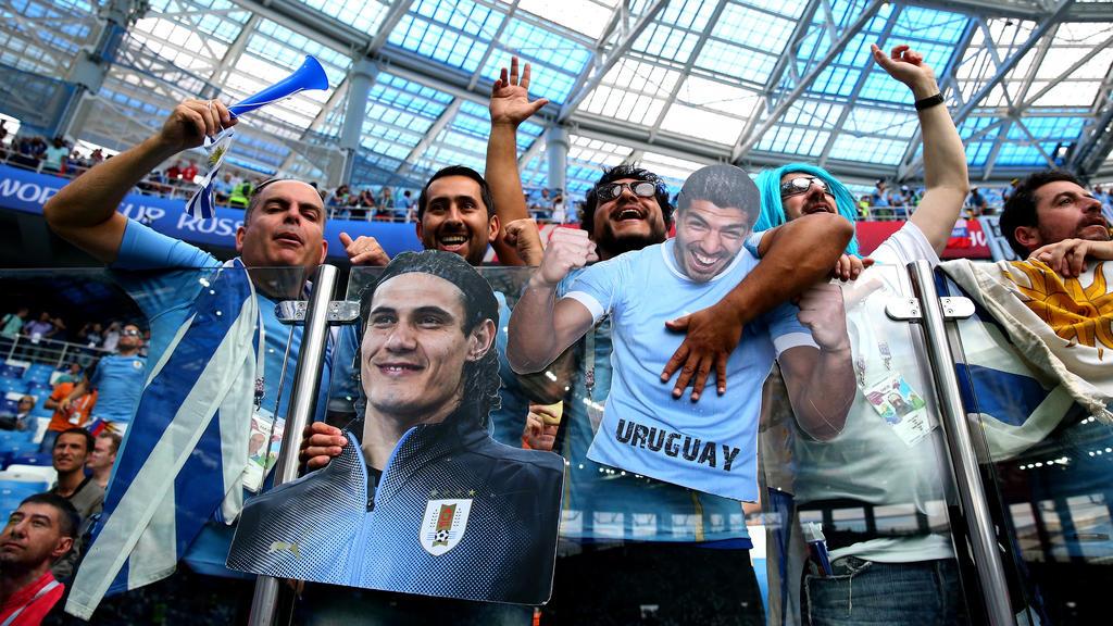 Auch die Fans aus Uruguay können kaum erwarten, dass es endlich losgeht