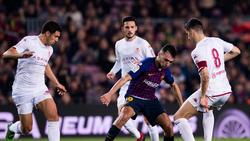 Munir El Haddadi (M.) wird den FC Barcelona wohl im Sommer verlassen