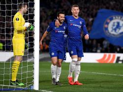 Pedro fue el salvador del Chelsea contra un buen Slavia. (Foto: Getty)