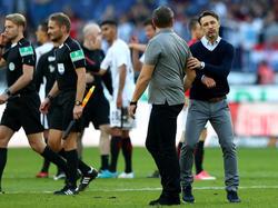 SGE-Coach Niko Kovač (re.) konnte zufrieden sein