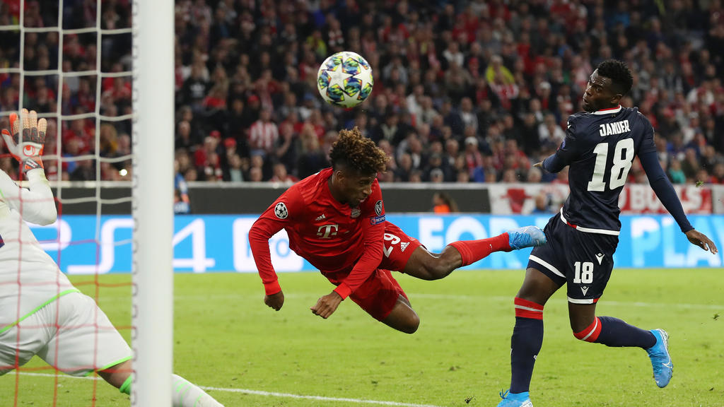 Kingsley Coman erzielte den Führungstreffer für den FC Bayern