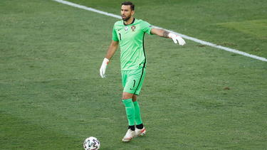 Rui Patricio con la camiseta de Portugal.