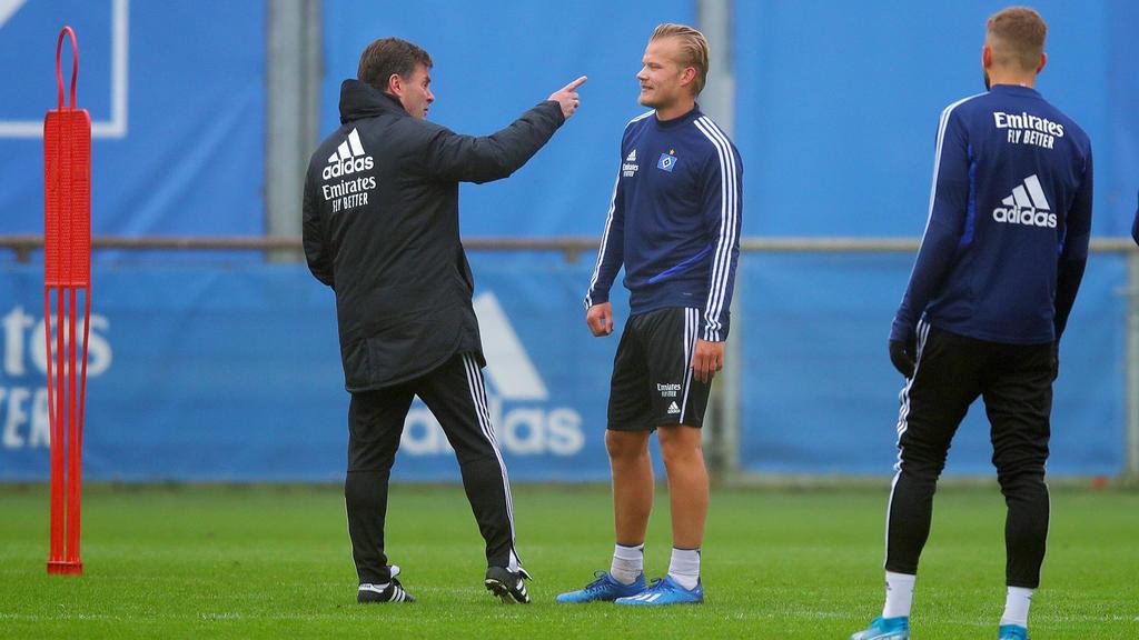 Dieter Hecking hofft beim HSV auf viele Tore von Joel Pohjanpalo