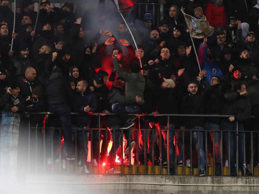Die italienische Liga hat ein Problem mit gewaltbereiten Fans