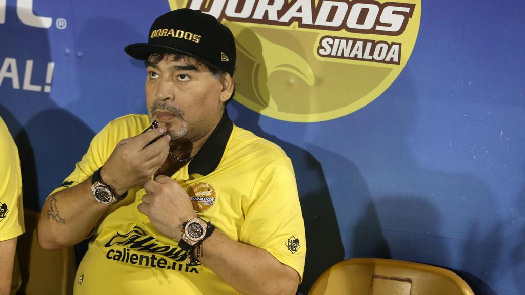 Diego Maradona war zu einem Routinecheck im Krankenhaus