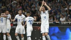 Bonucci (r.) erzielte das 3:0 gegen Griechenland