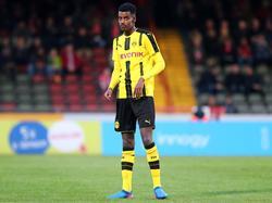 Alexander Isak musste beim BVB im A-Jugendteam ran