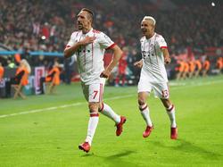 Frank Ribery también se subió al carro de los goleadores. (Foto: Getty)
