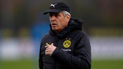 Lucien Favre hat über die Saisonziele des BVB gesprochen