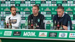 Werders Geschäftsführer Frank Baumann (re.) wurde angezählt