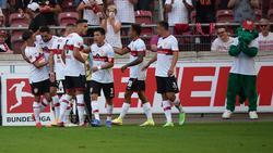 Die VfB-Stars konnten fünf eigene Treffer bejubeln