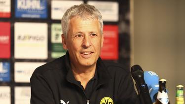 Lucien Favre sprach auf der BVB-PK