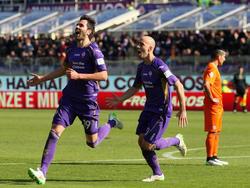 Borja Valero celebra un tanto con la Fiorentina. (Foto: Getty)