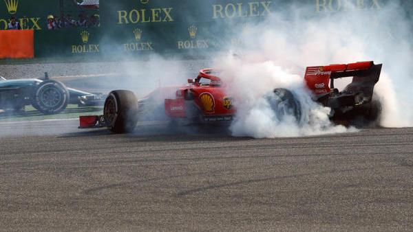 Sebastian Vettel wurde nach der Kollision mit Max Verstappen nicht bestraft