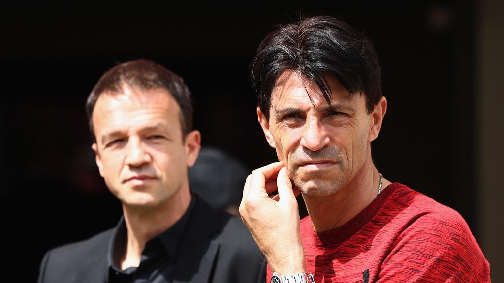 Fredi Bobic (l.) und Bruno Hübner (r.) sind seit Jahren bei Eintracht Frankfurt