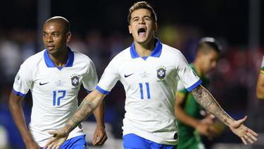 Philippe Coutinho erzielte zwei Treffer für Brasilien