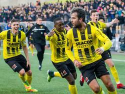 Ralf Seuntjens heeft zijn ploeg VVV-Venlo diep in blessuretijd op voorsprong geschoten in de Limburgse derby tegen MVV. (22-01-2017)