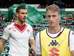 Grégory Sertić (l.) und Manuel De Luca stehen angeblich im Fokus von Werder Bremen
