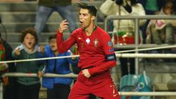 Schoss gegen Litauen seine Länderspieltore 96 bis 98: Superstar Cristiano Ronaldo
